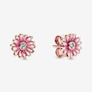 🥂Pandora Pink Daisy Flower Stud Earrings